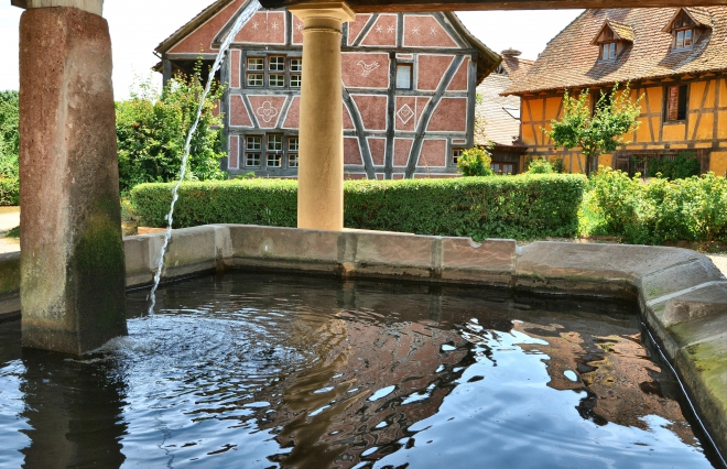 ecomusee ungersheim,ecomusee alsace,maison colombage alsace,lavoir ecomusee ungersheim